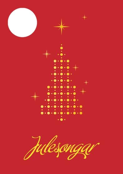 Lite, nostalgisk hefte med julesanger til å henge på treet. Format: 10,5*14,8 cm
