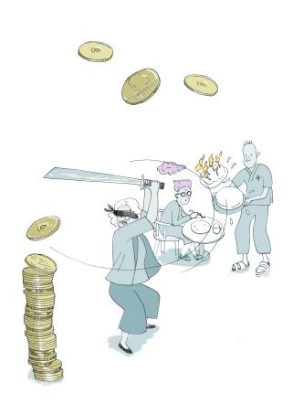 Svinger sparekniven – budsjettkutt i blinde